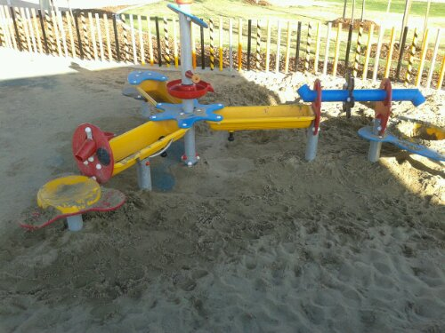 Sand play equipment