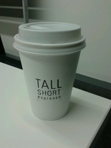 Long black coffee from Tall Short Espresso
