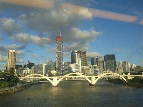 Only one crane on the Brisbane CBD skyline
