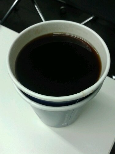 Long black Lavazza coffee from Aquila in Eagle Street in Brisbane's CBD