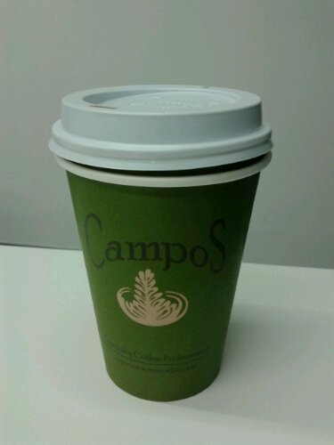 Campos long black coffee -- decent, but unremarkable