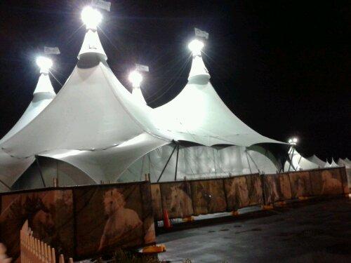 Cavalia's big top tent