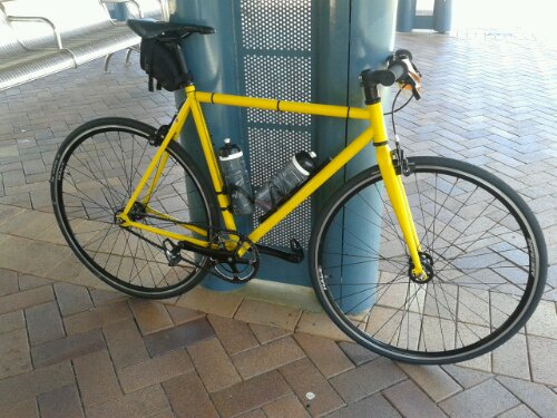 My Cell Bikes singlespeed at the train station