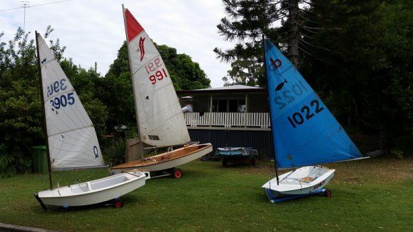Playing with sailing dinghies at Aqua Marine